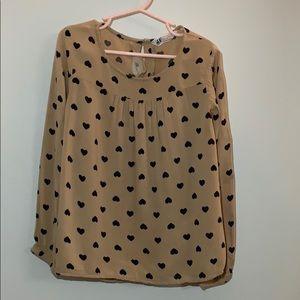 H&M Heart blouse